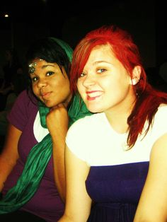 "Autumn and I as ""Jasmine and Ariel"""