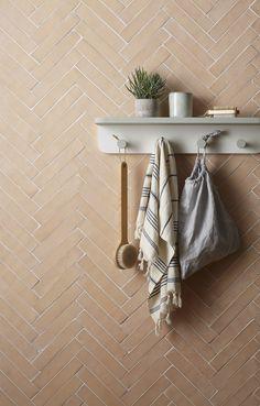 Handmade New Terracotta tiles // Raw bisque elongated rectangle