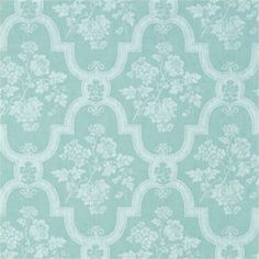 MULBERRY, Light Aqua, T9406, Collection Damask Resource from Thibaut