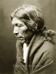 Pose-a-Yew, Restored Vintage Native American Photograph Reprint of Pueblo Man by Edward Curtis