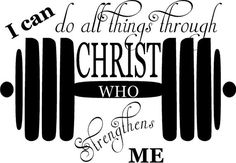 "Gym decal $19.99 32""x22"" choose your color https://www.etsy.com/listing/219580190/i-can-do-all-things-through-christ-who? I do custom decals too! Just tell me what you want"