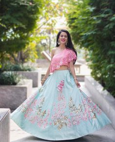 Pretty Pastel Lehnga for Summer Wedding