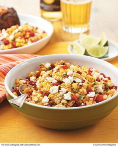 Grilled Corn & Fresh Pepper Salad - - leave out the peppers, and it sounds great!