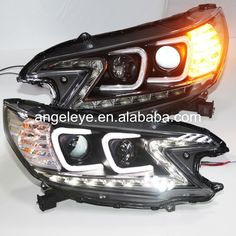 Headlights for 2012-2014 year For HONDA for CRV C Type Angel eyes Head Lamp with Bi Xenon Projector Lens and DRL function TLZ V1