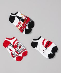 This Black & Red Cars 'Japan' Socks Set by Disney•Pixar Cars is perfect! #zulilyfinds