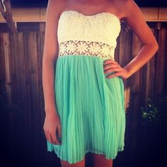 floral lace teal sundress. LOVE