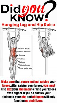 The Hanging Leg Raise is one of the best exercises for developing abdominal and core strength. Raising your legs engages all of your abdominal muscles, including the lower abs—making makes the. Muscle Fitness, Fitness Tips, Fitness Motivation, Health Fitness, Gym Workout Chart, Gym Workout Tips, Workout Fitness, Hanging Leg Raises, Bodybuilding