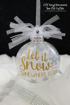 DIY Let It Snow... S