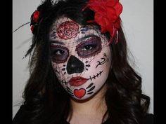 Halloween Makeup: Sugar Skull (Dia De Los Muertos)