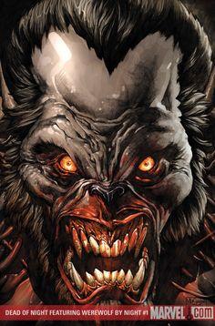 Werewolf by Mico Suayan Werewolf Vs Vampire, Werewolf Art, Horror Comics, Horror Art, Fantasy Creatures, Mythical Creatures, American Werewolf In London, Classic Monsters, Environmental Art