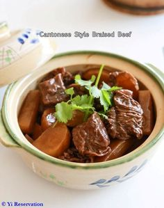 This classic Cantonese style braised beef brisket stew is flavorful and absolute mouth-watering and you can easily make it with this step-by-step recipe. Soup Recipes, Cooking Recipes, Beef Brisket Recipes, Cantonese Food, Asian Beef, Braised Beef, Beef Dishes, Meat Dish, Asia