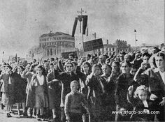 Funeral march, which the worker nation gives its promise to build socialism.
