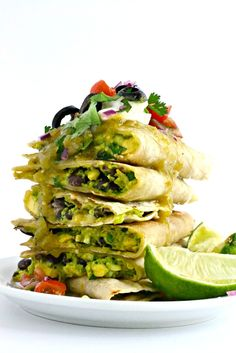 Green Chile Enchilada Quesadillas