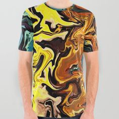 Water Abstract, Tattoo T Shirts, Printed Tees, Compliments, Graphic Tees, Articles, Unisex, Patterns, Space