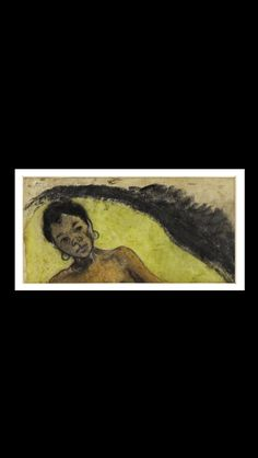 Paul Gauguin - La Tahitienne - Wash drawing, watercolor - 41 x cm - Toulouse. Paul Gauguin, Hiva Oa, Toulouse, Impressionist, Watercolor, French, Paris, Drawings, Painting