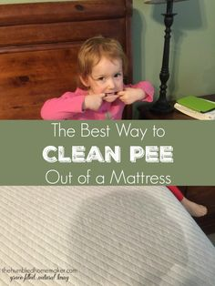With three young children, we've learned the best way to clean pee out of a mattress. Urine odors and stains don't always have to ruin mattresses forever!