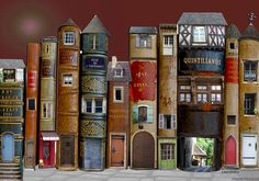 For the love of Books...'Village de livres and Rue des livres' by Marie Montard.