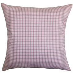 Appealing and chic, this plaid pillow is a must-have decor piece to add in your living space. This accent pillow comes with a quaint color scheme in white and pink. This throw pillow is plush and soft made of 100% cotton material. You can use this anywhere inside your home from your living room to bedroom. Perfect for casual settings and various styles. $55.00  #plaidpillow #pillows #tosspillow #pink