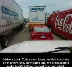 Read and don't piss off the truckers!