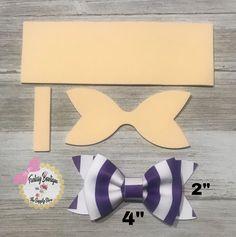 Diy Bow, Diy Hair Bows, Ribbon Crafts, Ribbon Bows, Ribbons, Homemade Bows, Princess Hair Bows, Bow Template, Templates