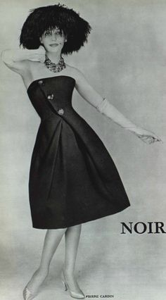 model : unknown  photo by ; unknown  1958 Pierre Cardin