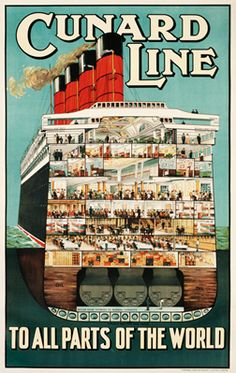Artist Unknown, Cunard Line to all parts of the world, c. 1919