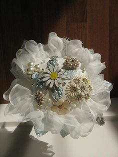 Handsewn Vintage Jewelry Bouquet