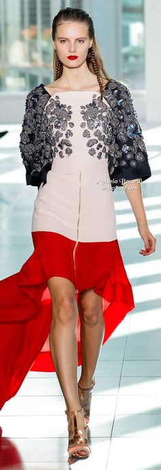 Antonio Berardi Spring 2014 --- a bit off the wall but I like it as it IS different yet still creates an hourglass look.