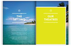 Lux Resorts Brochure layout #editorial #design #layout #inspiration