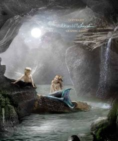Mermaids Cave Cropped version  Fine Art  Print Mounted or