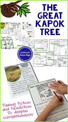 Perfect read aloud for the month of April! Many activities are print and go while still targeting essential common core skills and important comprehension strategies. A supplemental nonfiction text on kapok trees is a bonus!