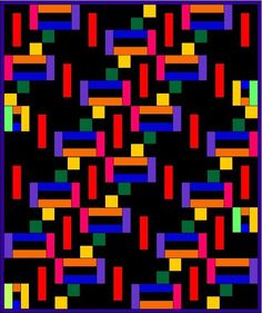 """Free """"Wandering Ways"""" quilt pattern from Holly Elam. 62"""" x 74."""""""