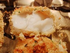 Weight Watchers Points Plus Recipes: Oven Fried Cod Fillets/ 5 pts + Cod Fillet Recipes, Cod Fish Recipes, Seafood Recipes, Cooking Recipes, Healthy Recipes, Skinny Recipes, Skinny Meals, Healthy Meals, Slimming Recipes
