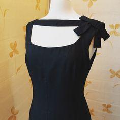 Price reduced - 1960s vintage Oleg Cassini silk evening cocktail dress - designer to Jackie Kennedy