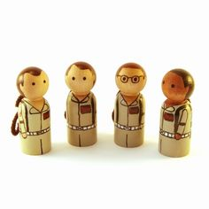 Ghostbusters peg people by RandomlyGenerated #etsy