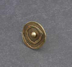 Satellite. Golden brass statement ring adjustable by BaccaraSilver