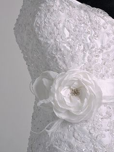 love the detail on this wedding dress.