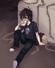 Nico di Angelo | art by nokimori---he had the best character depelovement....(eating.)