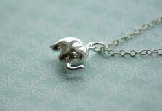 For me: Tiny Elephant - Sterling Silver Necklace I love me my elephants
