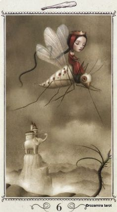 Lá 6 of Wands - Nicoletta Ceccoli Tarot Art And Illustration, Portrait Illustration, Art Illustrations, Fashion Illustrations, Fantasy Kunst, Fantasy Art, Tom Bagshaw, Arte Lowbrow, Art Deco Posters