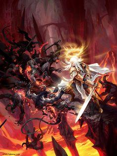 Warrior Angel vs Demons - Blood of Angels by michalivan.deviantart.com on @deviantART