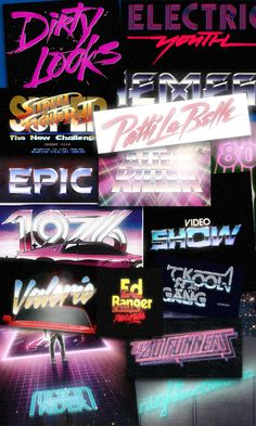 NEW RETRO WAVE by Alessandro Strickner, via Behance