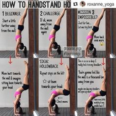 Remodel your Body Practicing Yoga - Shoulder Opening/ Backbend Yoga Poses Transform Your Body By Doing Yoga - Yoga Fitness. Introducing a breakthrough program that melts away flab and reshapes your body in as little as one hour a week! Yoga Bewegungen, Yoga Handstand, Yoga Moves, Handstands, Wall Yoga, How To Handstand, Handstand Progression, Yoga Flow, Yoga Fitness