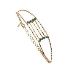 CAROLINE NAJMAN Serena - Bracelet - en plaqué or et émeraude