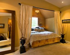 Decorating Bedroom Ideas ~ Sweet Romantic Bedroom Colors - Tuscan Inspired - Click Pic for 42 Romantic Master Bedroom Decor Ideas Alcove Bed, Bed Nook, Stylish Bedroom, Modern Bedroom, Contemporary Bedroom, Bedroom Simple, Pretty Bedroom, Master Bedroom Design, Home Bedroom