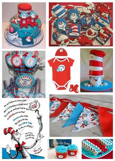 Dr. Seuss Cat in the Hat Party Inspiration Board