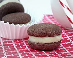 Chocolate Peppermint Sandwich Cookies (Paleo).  Putting these on my to do list.