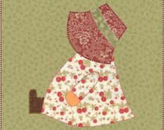 Sunbonnet Sue Sitting Quilt Block by OneDaisyStudio - Craftsy Quilt Patterns Free, Pattern Blocks, Embroidery Patterns, Free Pattern, Sewing Patterns, Sunbonnet Sue, Bonnet Pattern, Girls Quilts, Quilting Tutorials
