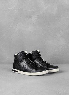 71ba05db3a0 Leather Weapon High-Top John Varvatos, Designer Clothes For Men, High Tops,