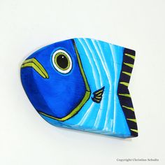 Reclaimed Wood Fish Art Blue Wall Decor For Home by TaylorArts